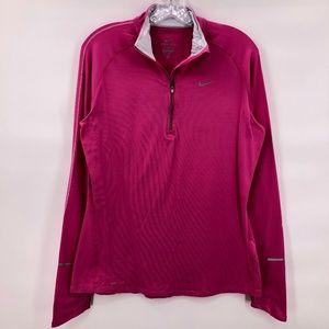 Like New Nike /14 zip hot pink dri fit jacket